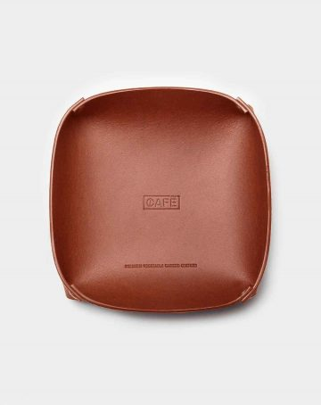 leather tray brown for keys