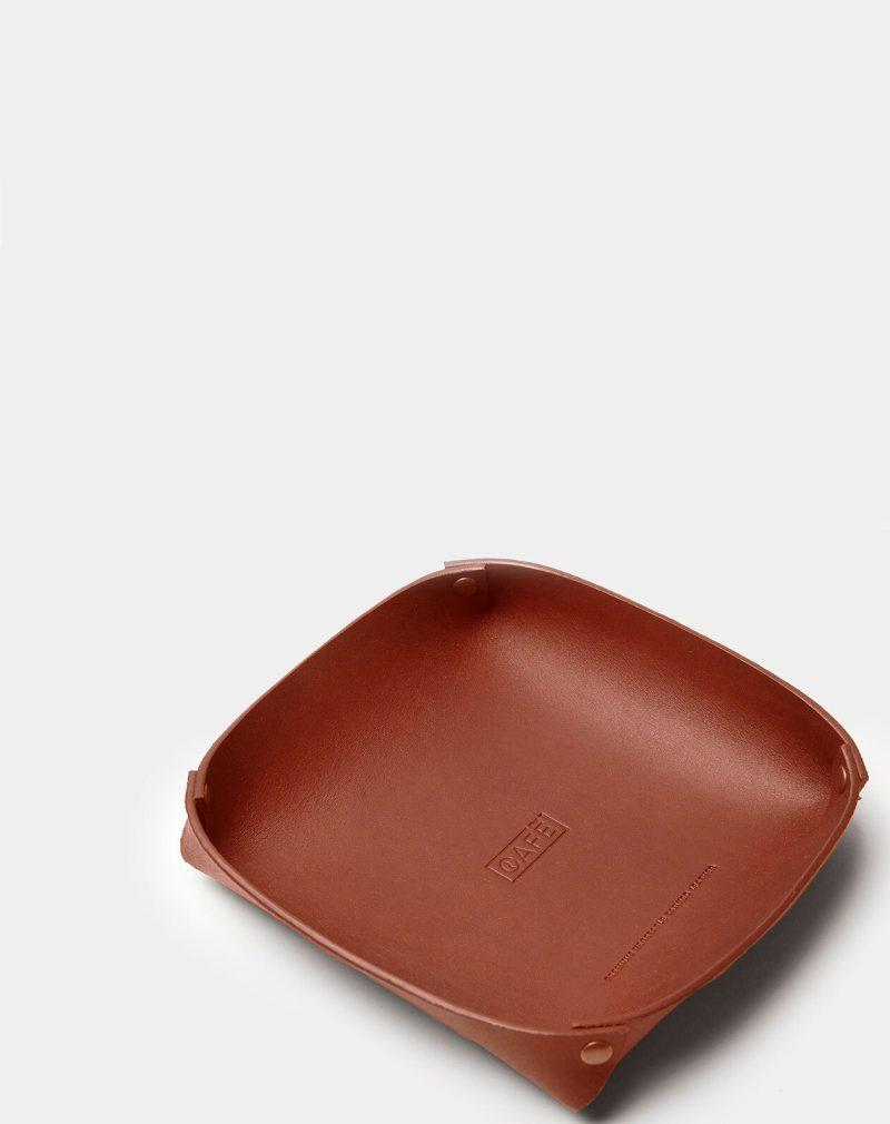 leather tray brown