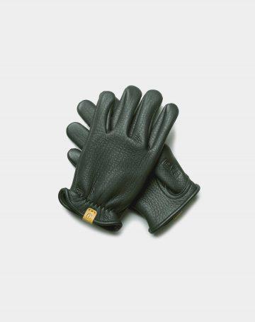 guantes de reno verdes con detalle amarillo