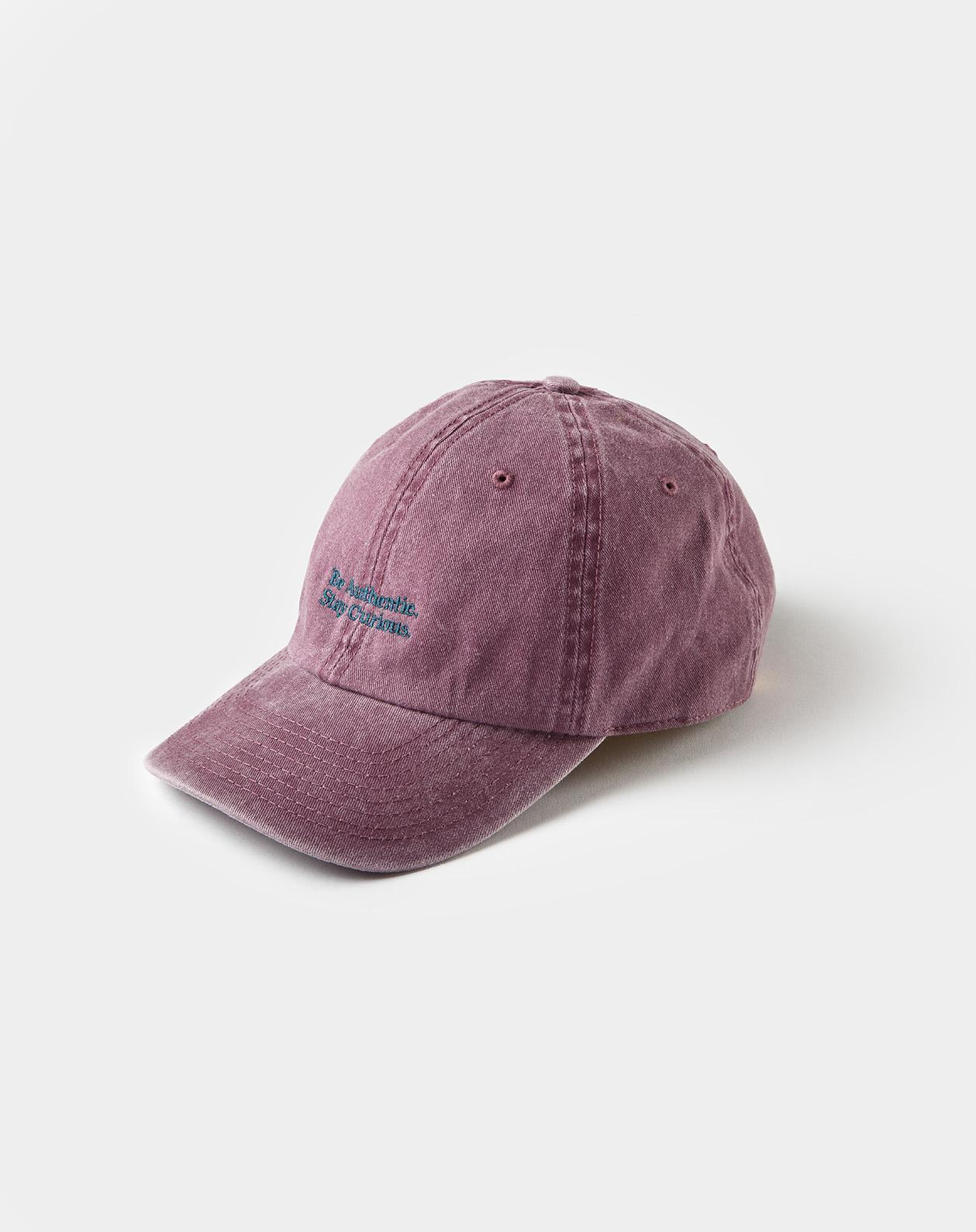 Washed Cotton cap Burgundy