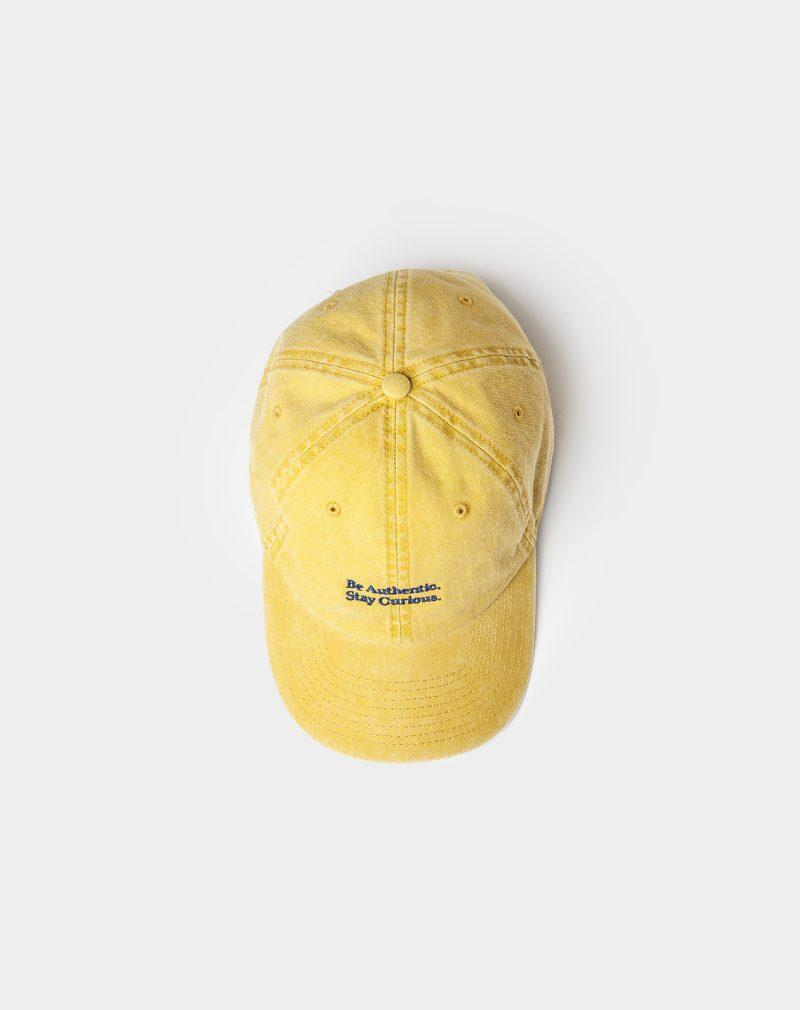 washed cap spicy mustard above sight