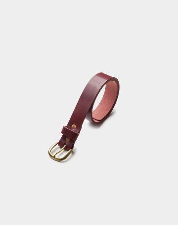 cinturon de piel rojo