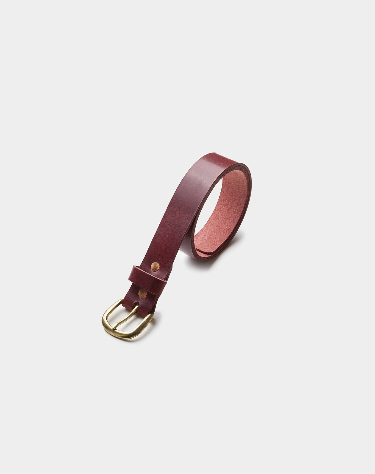 leather belt burgundy