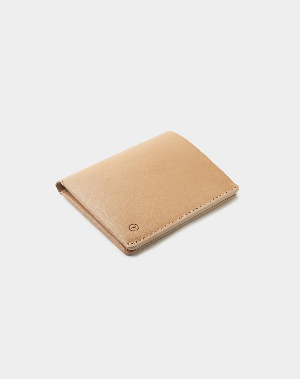 Ultra slim natural wallet diagonal in natural