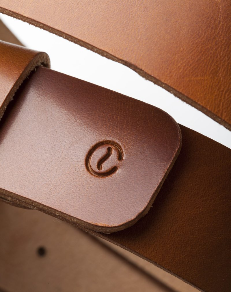 leather belt roasted logo