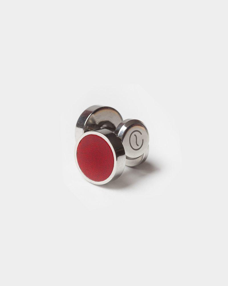 leather cufflinks berry