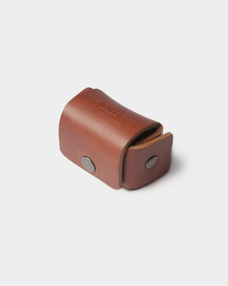 leather cufflinks case closed
