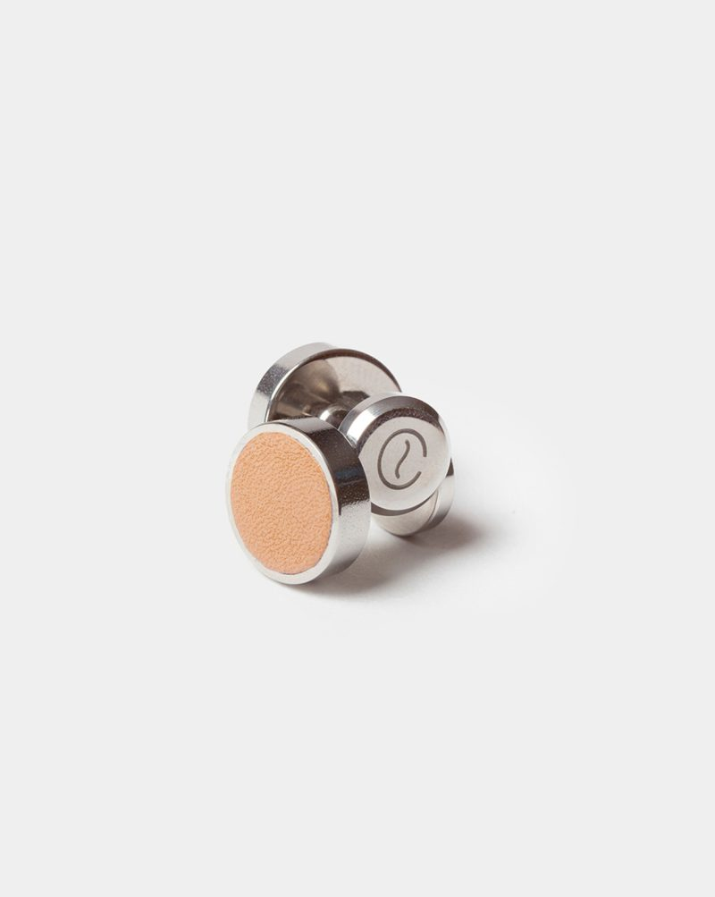 leather cufflinks natural