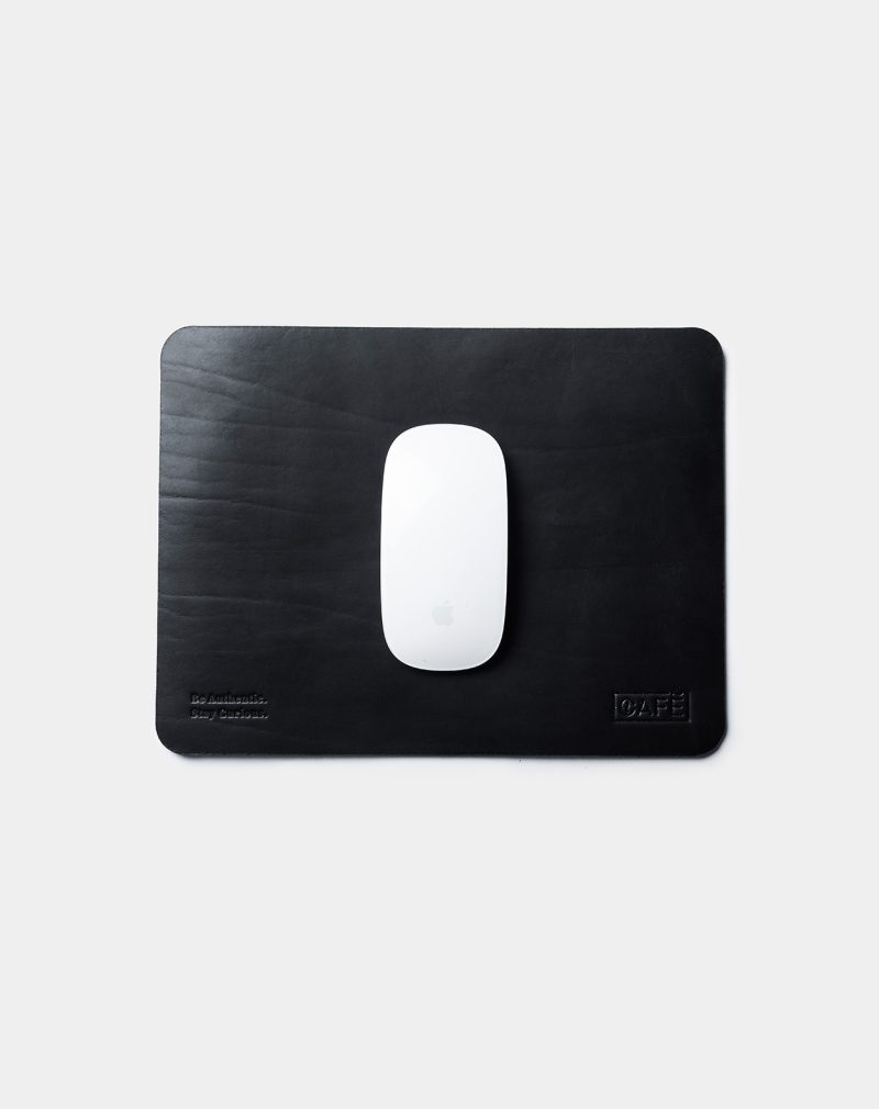 leather mouse pad black