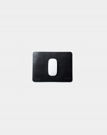 leather mouse pad black front