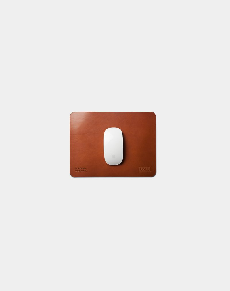 leather mouse pad brown