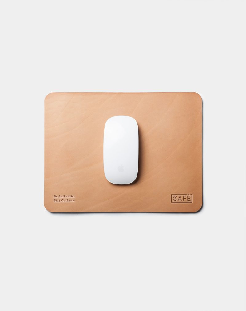 leather mouse pad natural detailed