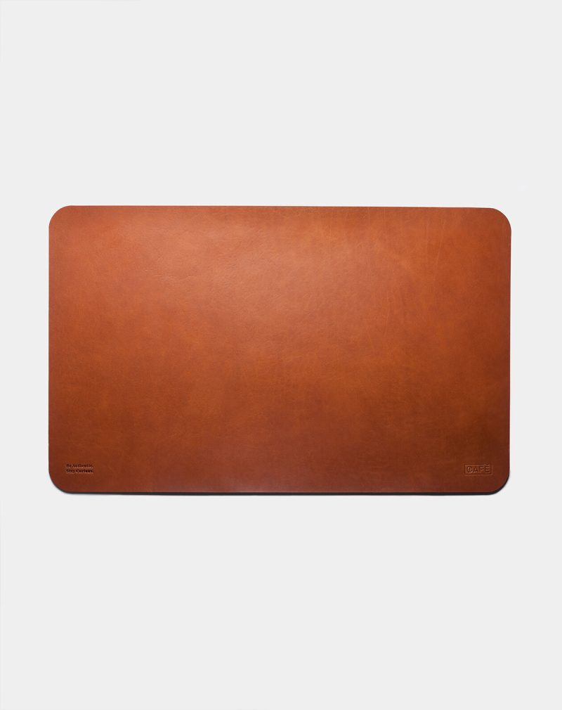 leather desk pad roasted front