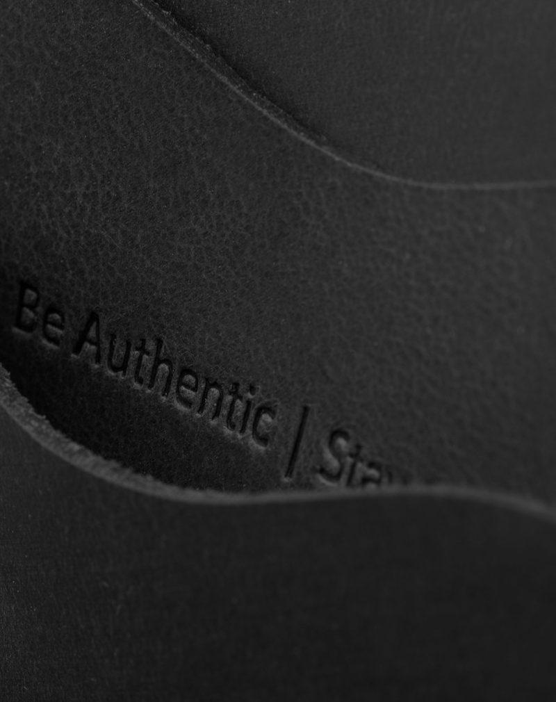 panama black detail leather