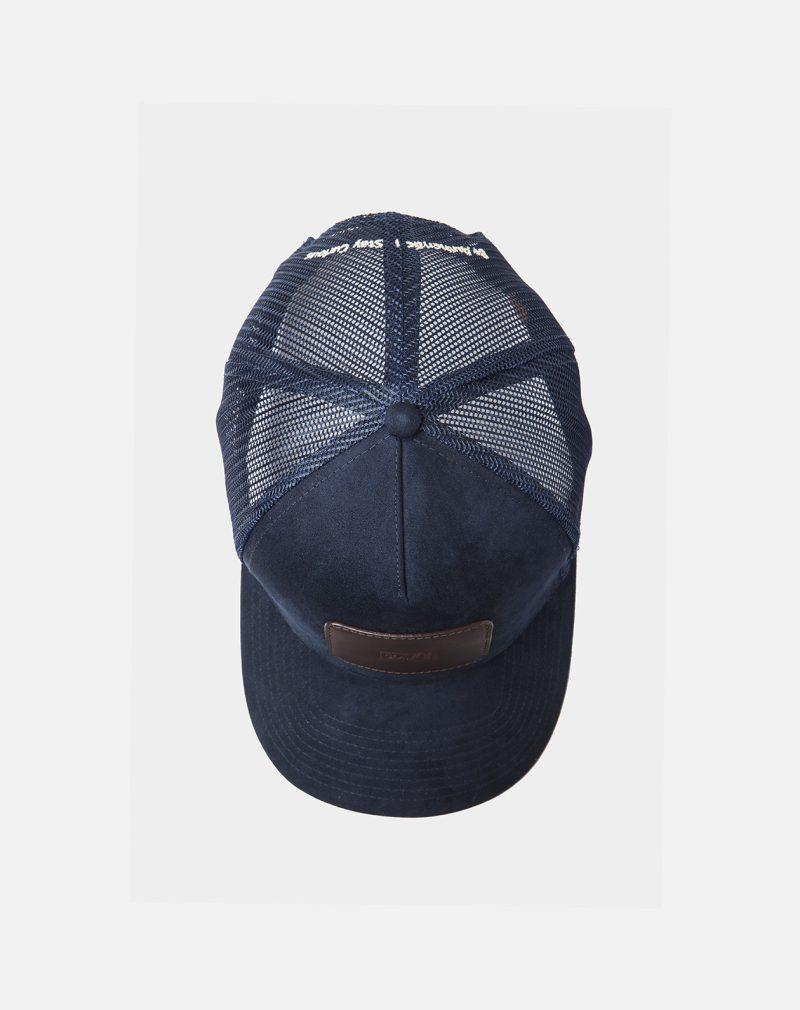 suede mesh cap navy black coffee