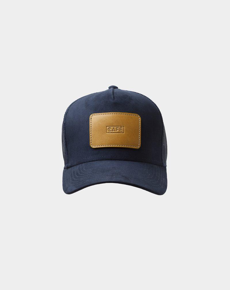 suede mesh cap navy spicy mustard