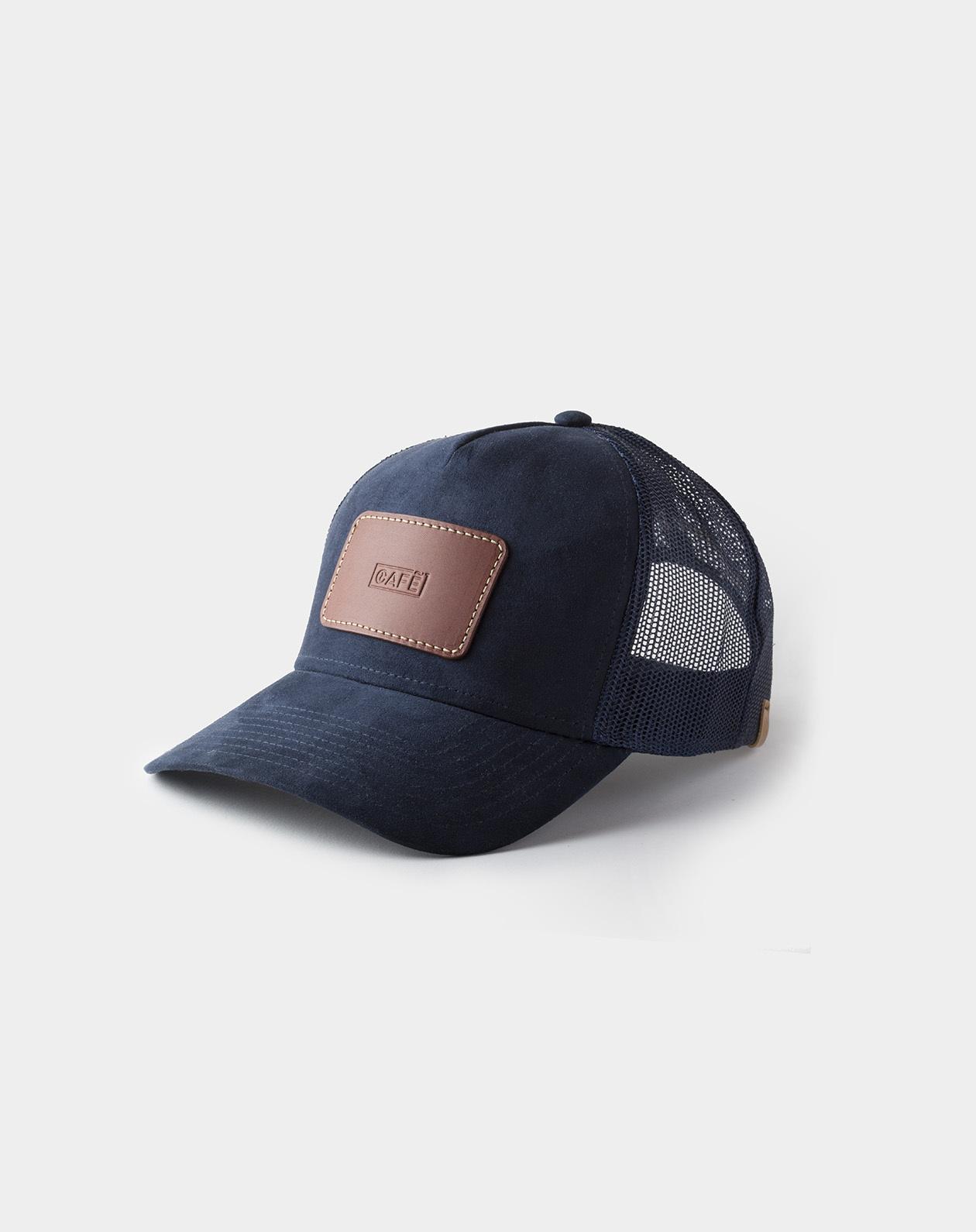 suede mesh cap navy
