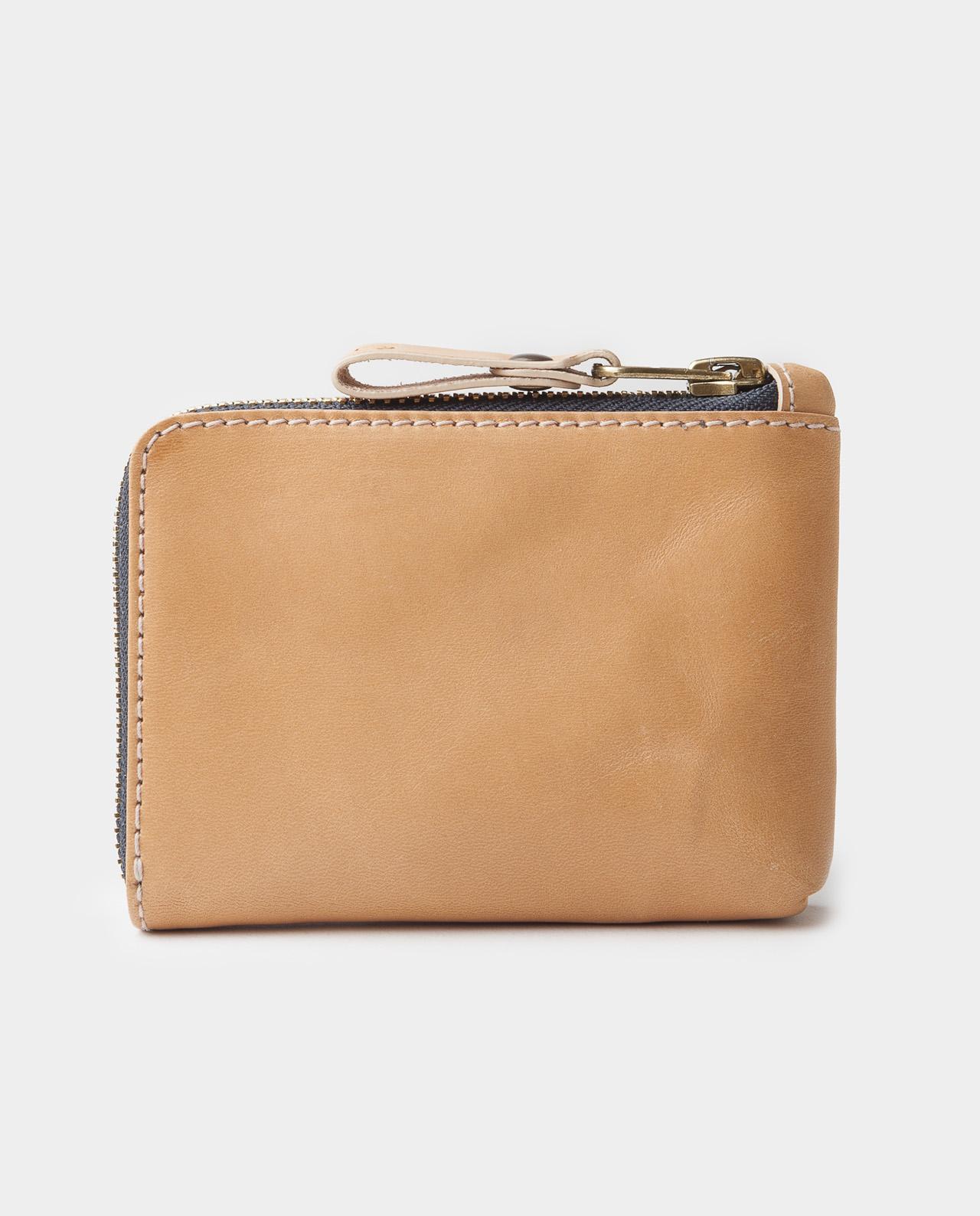osaka natural zip wallet