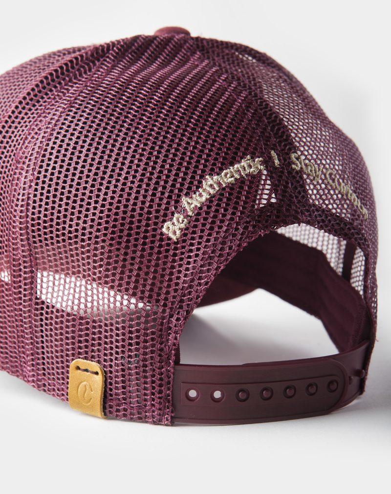 suede mesh cap burgundy roasted