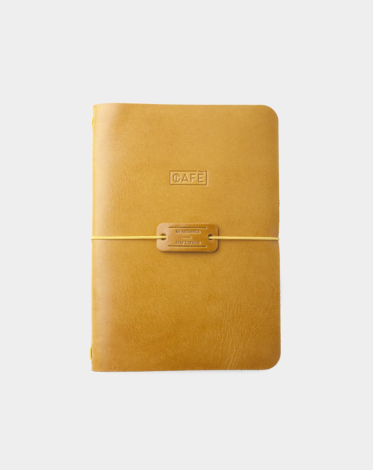 handmade notebook spicy mustard