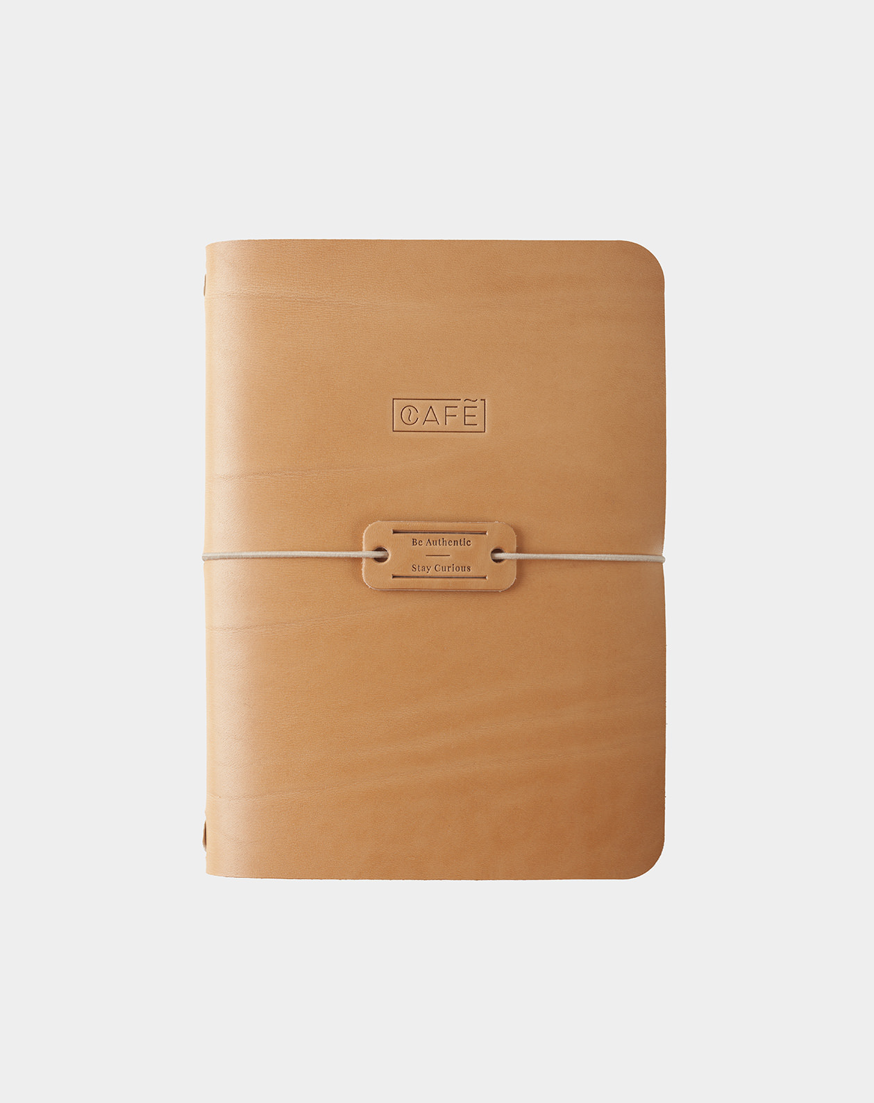 handmade notebook natural front