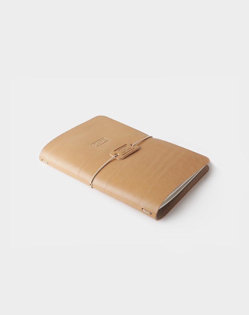 handmade notebook natural back