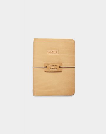 Leather a6 notebook natural front
